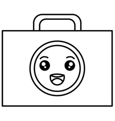 medical kit kawaii character vector image