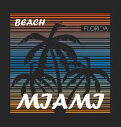Miami square background vector