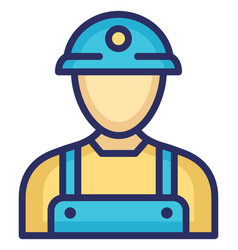 Miner icon which can easily modify or edit vector
