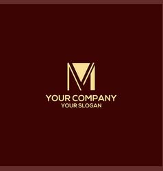 Mv simple logo design vector