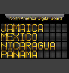 north america country digital board information vector image