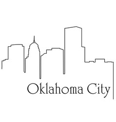 oklahoma city one line drawing vector image