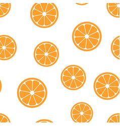 orange fruit icon seamless pattern background vector image