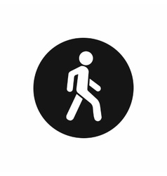 Pedestrians only road sign icon simple style vector