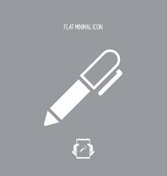 Pen - flat icon vector