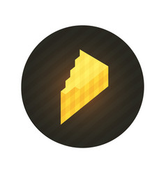 piece of cheese vector image