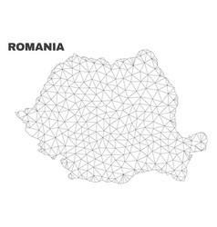 Polygonal mesh romania map vector