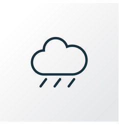 Rainfall outline symbol premium quality isolated vector
