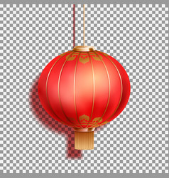 Realistic festive chinese red lantern vector