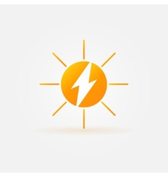Rechargeable energy from sun icon vector