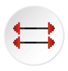 Rod icon flat style vector