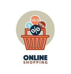 sale in online store vector image