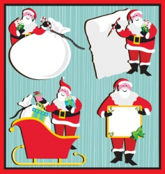 Santa claus banners and tags vector