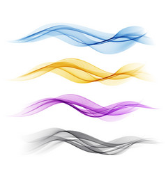 Set color abstract wave design element vector