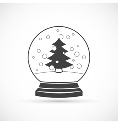 Snowball icon vector image