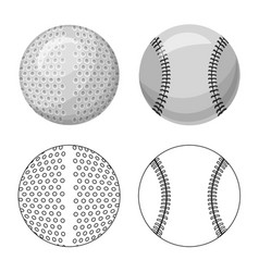 sport and ball icon set of vector image