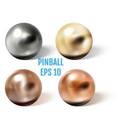 Stee copperand brassl pinball balls vector