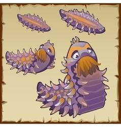 Strange underwater creation like a caterpillar vector