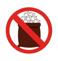 sugar free isolated icon design vector image