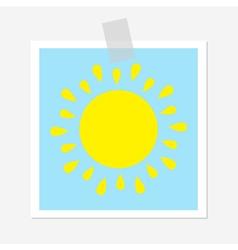 Sun shining icon Cute cartoon image Greeting card vector