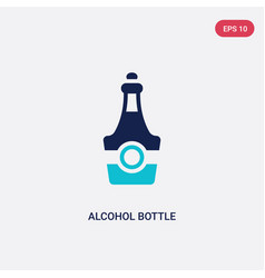 two color alcohol bottle icon from desert concept vector image