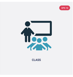 Two color class icon from people concept isolated vector