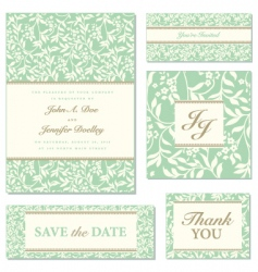 vector ivy wedding frame set01 vector image vector image