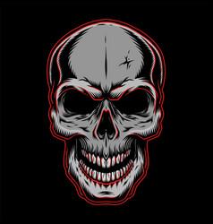 vintage human skull template vector image