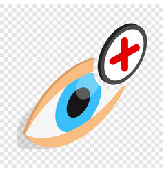 Vision farsightedness isometric icon vector