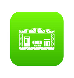 warehouse storage equipment icon green vector image