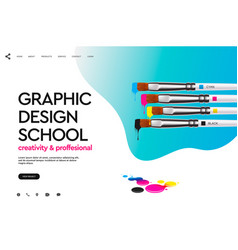 web page design template for graphic design vector image