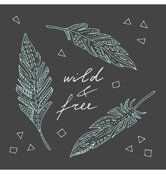wild and free vector image