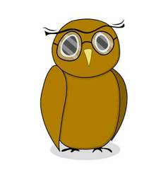 Wise owl with glasses vector