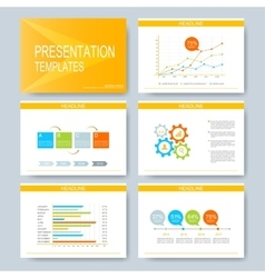 Yellow set of templates for multipurpose vector