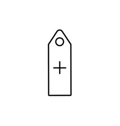 add tag icon vector image vector image