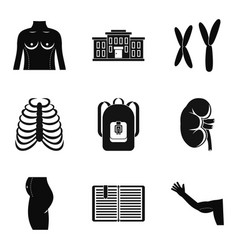 atomy icons set simple style vector image