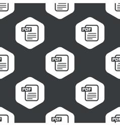 Black hexagon PDF file pattern vector image vector image