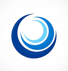 circle swirl wave abstract logo vector image