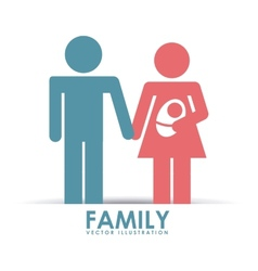 family happy vector image