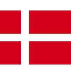 Flag of Denmark vector image vector image