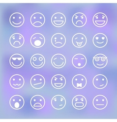 Icons set of smiley faces for mobile application vector image vector image