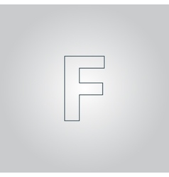Letter F flat icon vector image