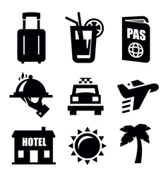 travel icon vector image vector image