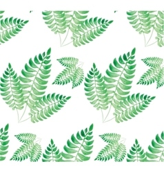 Watercolor green leaf pattern vector image