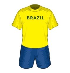 Brazil dres resize vector image vector image
