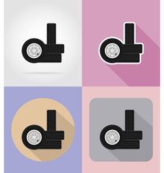 car equipment flat icons 16 vector image vector image