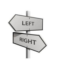 post arrow left and right vector image