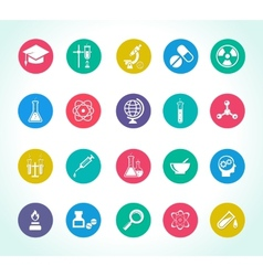 scientific research icons vector image vector image