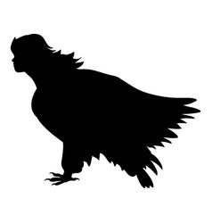sirena bird silhouette ancient mythology fantasy vector image