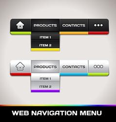 Web Navigation Menu vector image vector image